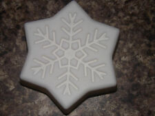 Shea butter white homemade snowflake soap big 4 ounce bars YOU CHOOSE SCENT x 5