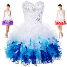 New Short/Mini Organza Prom Cocktail Party Quinceanera Formal Bridesmaid Dress