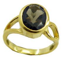 Smoky Quartz Gold Plated Ring marvelous Brown suppiler AU K,M,O,Q