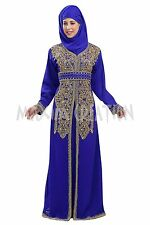 DUBAI KAFTAN GEORGETTE HAND EMBROIDERY JILBAB ARABIAN ARABIAN  DRESS 5765