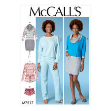 McCalls Sewing Pattern Misses Batwing Top, Dress & Romper, Shorts & Pants  M7517