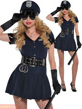 Ladies Police Officer Costume Adults Sexy Cop WPC Fancy Dress Womens Outfit