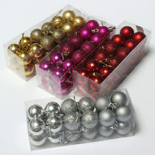 12pcs Xmas Balls Christmas Tree Decorations Baubles Party Wedding Ornament 6cm