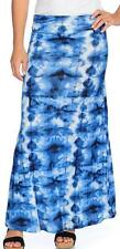NEW - One World Knit Tie-Dye Fold-over Elastic Waist Maxi Skirt