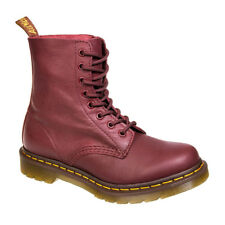 Ladies Dr Martens Pascal Cherry Red Virginia Leather Lace Up Classic Ankle Boots