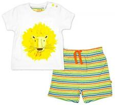 Boys Outfit Cotton T-Shirt Set Top Stripe Shorts Kids Newborn Baby to 12 Months