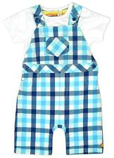 Boys Dungaree Check Bib Shorts Bodysuit Top Outfit Newborn Baby to 12 Months