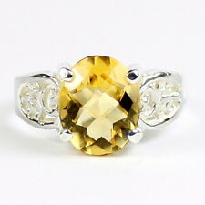 Citrine, 925 Sterling Silver Ring, SR369-Handmade
