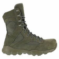 Reebok Mens Sage Green Suede Nylon Tactical Boots Dauntless Comp Toe