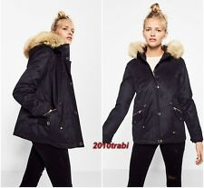 ZARA GREAT CASUAL NAVY HOODED PARKA JACKET WITH DETACHABLE LINING Size M