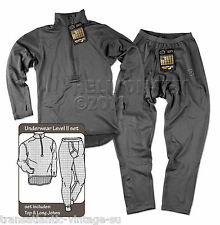 HELIKON LEVEL 2 ARMY THERMAL UNDERWEAR SET BREATHABLE TOP WITH LONG JOHN BOTTOMS
