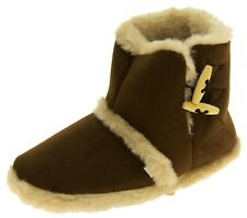 Womens Coolers Warm Winter Faux  Fur Lined Toggle Slipper Boots Size 3 4 5 6 7 8