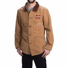 New Carhartt Weathered Cotton Duck Chore Coat Jacket Brown Mississippi State