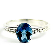 London Blue Topaz, 925 Sterling Silver Ring-Handmade, SR371