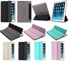 Luxury Slim Smart Auto Sleep Leather Stand Cover soft TPU Back Case Cover (SF)