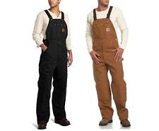 New Carhartt Quilt Lined Bib Overalls Sandstone Insulated Men's $150 All Sizes