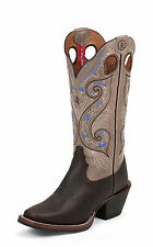 Tony Lama Womens Bridle Brown Shiloh Leather 3R 13in Western Boots