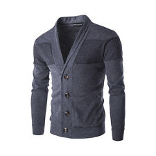 Men's Fashion Fit Mens Cardigan Knit Long Sleeve Sweater Slim Casual Coat Tops