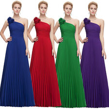 Sexy Pleated Party Prom Ball Gown Long Chiffon Bridesmaid Evening Formal Dresses