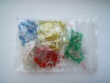 3mm LED'S Pack OF 500 100x Each of Red, Blue, Green, Yellow, White UK Seller
