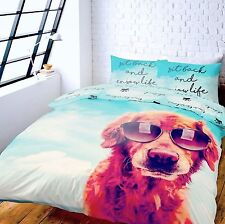 Catherine Lansfield 3D Dog Life Duvet Quilt Cover Set Single Double King
