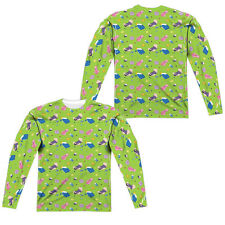 ADVENTURE TIME GREEN FIELDS Men's Long Sleeve Sublimated Tee Shirt F/B SM-3XL