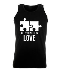 All You Need Is Love Sex Funny Rude Mens Gym Womens Vest Tank Top