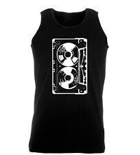 Retro Casette Hipster Hip Hop Music 80's Indie Mens Gym Womens Vest Tank Top