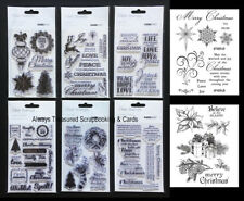 Kaisercraft Unmounted Acrylic Clear Stamp ~6 Christmas Design Option Kaiser Card