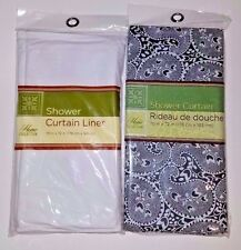 Home Collection Shower Liner and Curtain SET 70 x 72 NIP 70x72