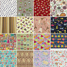 PRECUT Cotton Fabric 3/4 Yard 67.5x110cm Mixed Flower Dot Gingham Plaid Stripe 2
