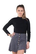 Sweater Jumper Shirt Women Tops Knitted Long Ladies T Top Sleeves Neck Blouse