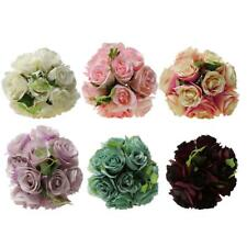 Artificial Rose Silk Hydrangea Flowers Bouquet Bridal Wedding Bouquet 6 Colors