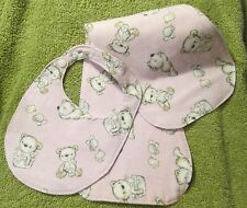 Baby Bib with matching Burp Cloth set d