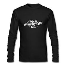 New Hank Williams Jr Country Singer Long Sleeve Black T-Shirt Size XS-2XL