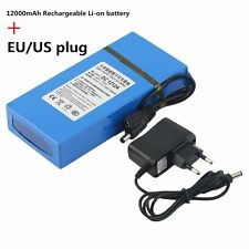 12000MAH Large Capacity Long Battery Life DC 12V Rechargeable Li-ion Battery GA