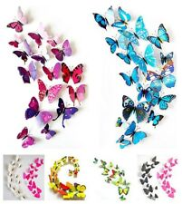 12pc 3d Pvc Magnet Butterflies Decor Poster for Kids Room Diy T Wall Stickers