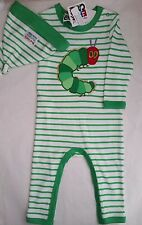 THE VERY HUNGRY CATERPILLAR Licensed romper coverall cotton + hat NEW sz 000-1