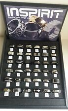 MENS STAINLESS STEEL RINGS , VARIOUS DESIGNS/SIZES, NEW WITH PRESENTATION BOX