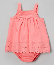 Juicy Couture Baby Girl Coral Eyelet Tank & Diaper Cover 12 Months