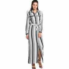 Elegant Party Long Shirt Dress Women Long Sleeve Tunic Maxi Dress Spring Dress