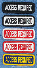 ACCESS REQUIRED SERVICE DOG PATCH 1X3 INCH Danny & LuAnns Embroidery
