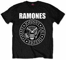Official Ramones Presidential Seal Logo T-Shirt Black Mens Tee Band Music Merch