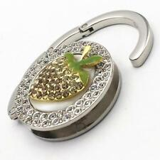 Rhinestone Strawberry Foldale Purse Handbag Hook Hanger Bag Hanging Accessory