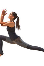 Patchwork Mesh Stretch Workout Leggings Active Tight Yoga Pants
