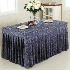 Tina 6'ft. Fitted Table Skirt Tablecloth Wedding Banquet Event Pleated Polyester