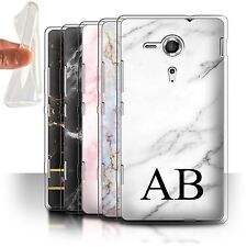 Personalised Marble Gel/TPU Case for Sony Xperia SP/C5303/Name/Initial DIY Cover