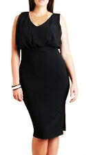 Women Black Party Pencil Skirt Dress Size 10 12 14 16 18 20 22 24 NEW plus