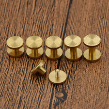 5pcs Solid Brass Button Stud Screw Nail Screwback Leather Belt Useful Tool