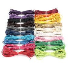 Good 10M 1mm Waxed Cotton Cord String Linen Thread Wire Jewelry Bracelet Making